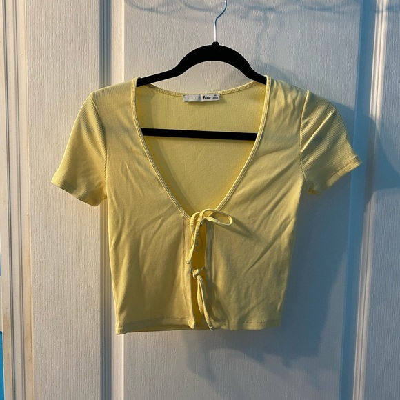 Wilfred only tie front shirt yellow size xs